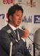 入団記者会見で意気込みを語る高知ファイティングドッグス・藤川 球児投手