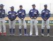 石川MSの首脳陣・右からフリオ・フランコ監督兼選手、渡辺 正人ヘッドコーチ、多田野 数人投手コーチ兼投手