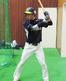 スイングを構える福井ミラクルエレファンツ・森 亮太外野手