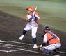 第5戦、新潟アルビレックスBC唯一の打点をあげた3番左翼手・荻島 寿哉