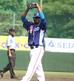 徳島インディゴソックスでの最終登板を2回無失点で終え、神に感謝するガブリエル・ガルシア投手
