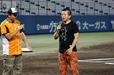 5回のグラウンド整備時に四国アイランドリーグplusの未来を語った堀江 貴文氏
