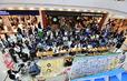 「ゆめタウン徳島」内に設けられたパブリックビューイング会場