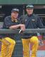 試合中の様子。林威助選手(右)と(写真提供者:養父鐵コーチ)